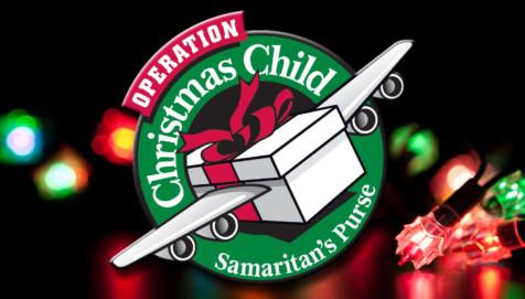 Operation Christmas Child (shoeboxes) @ Tables near the entrances